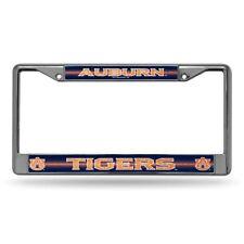 Auburn University Tigers Sparkly Glitter Bling Look Chrome License Plate Frame