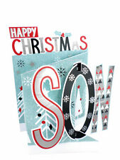 Happy Christmas Son Christmas Card 3D Cutting Edge Greeting Cards