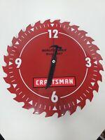 "Craftsman Sears Roebuck 10"" Steel Circular Saw Blade Shop Clock 922030"