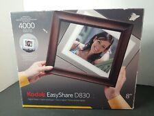 "Kodak EasyShare D830 Digital Picture Frame 512 Mb Internal Memory 8"" 4000 pics."