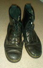 Vintage 8 trous Dr Marten Bottes Noir Made in England Taille 10