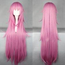 K NEKO Long Straight Purple Anime Cosplay Costume wig +Free CAP