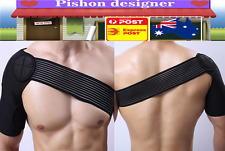 Adjustable Shoulder Support Brace Compression Strap Heat Patch Sports Protection