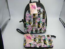 Betsey Johnson Floral Mini Backpack & Wristlet 2 Piece Set FACTORY SEALED