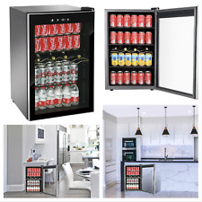 Rca 110 Can & 4 Bottle Glass Door Led Lighted Beverage Center Wine Cooler New