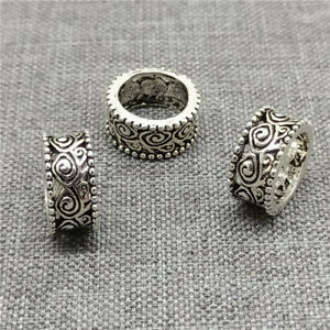 5pcs of 925 Sterling Silver Swirl Spiral Beads Large Hole Spacer for Bracelet