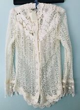Martin McCrea Lace Jacket/Tunic, Cream, Size M