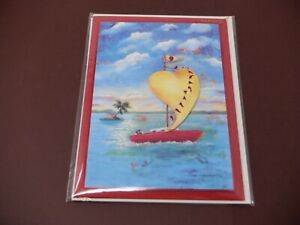 Papyrus Happy Anniversary Sailboat Heart Greeting Card New HC5747
