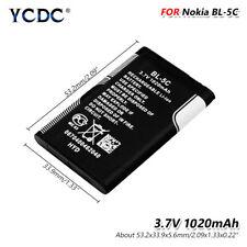 3.7V 1020mAh BL 5C BL-5C Batería para Nokia 1100 1101 1110 1112 1208 1600 1680 6