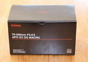 Sigma 70-200mm F2.8 II APO EX DG Macro (Canon mount)