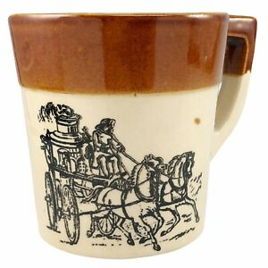 Holt Howard Horse Drawn Fire Engine Stoneware Mug Coffee Cup Oven Proof Vintage