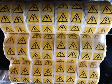 Safety Warning  AC DC Danger High Voltage Flash Sticker Roll X 12 Rolls