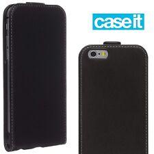 CASEIT Executive Cover For Apple iPhone 6 6S Folio Flip Premium Case Slim Black