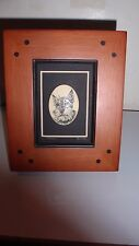 Collectible Schnauzer Dog Wooden Frame Picture ~ Very Cute Excellent Condition