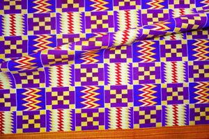 Metallic PurpleKente Print Fabric by the Yard Black History Month Kente Cloth