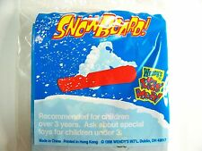 1998 Vintage Wendy's Fast Food Premium SNOWBOARD Toy Sealed Mint C10!