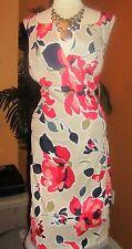 ADRIANNA PAPELL  22W NWT $140 beige red blue flower dress women's summer
