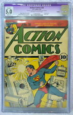 ACTION COMICS #36 CGC 5.0 SUPERMAN 1941 Classic Robot cover
