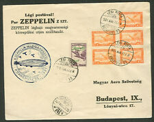 HUNGARY 1931 Zeppelin Flight Budapest w/C25 + others