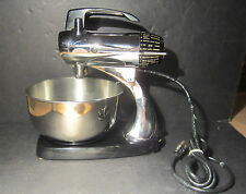 Retro Vintage Sunbeam Mixmaster 12 Chrome Body Bakelite Base 1960s No Beaters