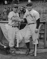 1937 Giants MEL OTT & Yankees LOU GEHRIG Glossy 8x10 Photo World Series Print