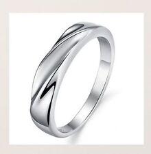 FEIN!Silberring 925 Sterling Silber Ring Damen Herren Rhodiniert Verlobungsring