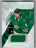2018-19 MIRO HEISKANEN  ULTIMATE COLLECTION RC JERSEY 334 OF 399 DALLAS STARS!!