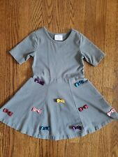 Hanna Andersson Dress size 4 Gray with bows
