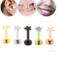 Nose Piercing Star Labret Lip Ring Helix Nariz Tragus Cartilage Earrings Jewelry