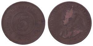 XA.410} MAURITIUS 5 cents 1923 VF-