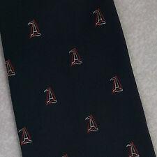 William Grant & Sons Cravatta Vintage con Crest LOGO azienda Navy WHISKY 1980s