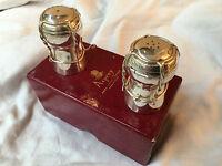 Fabulous 'Asprey' Silver Salt & Pepper Pots in the form of Champagne Corks. 1977