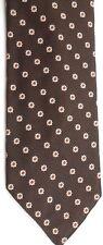 "Esquire Cravats Men's Vintage Tie 55"" X 3"" Brown w/ cream/orange Floral"
