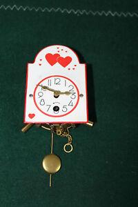 Antik Miniaturuhren Firma Wintermantel Emaileschild 1Tagewerk Wanduhr