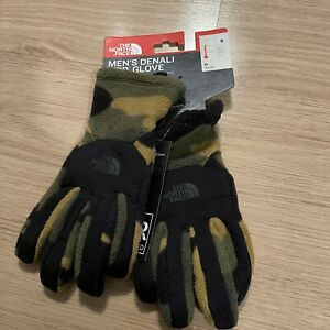 NEW WITH TAGS MENS THE NORTH FACE DENALI ETIP GLOVES CAMO PRINT SMALL S