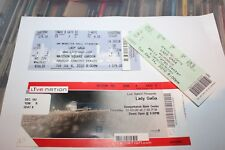 Lady Gaga - 3 used concert tickets  - Free Postage -