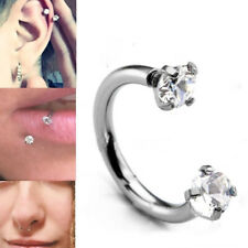 Cartilage Septum Helix Tragus Piercing Crystal Ring Hoop Ball Awl Bar