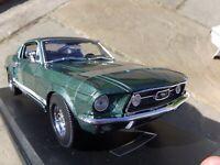 Maisto 1:18 1967 V8 Ford Mustang GTA Fastback Bullit Muscle Car Detail Model Toy