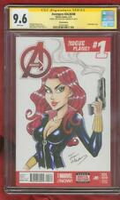 Avengers 1 CGC 9.6 SS Black Widow Original art Infinity War Movie Sketch no 8