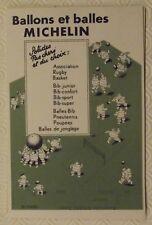 "Ancien Buvard Publicitaire Illustration BIBENDUM  Ballons & Balles "" Bib-Sport"""