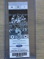 2007 Dallas Cowboys vs New York Giants Official NFL Ticket Stub 9/9/2007