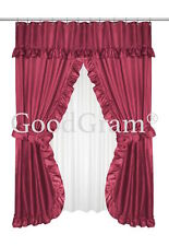 Dobby Design Double Swag Shower Curtain Sets - Assorted Colors