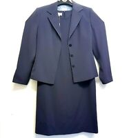 Per Una Womens Two Piece Suit Jacket UK 14 and Dress UK 16 Mid Grey