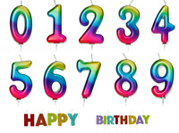 Metallic Rainbow Age Number Candle Birthday Pride Party Cake Topper Decoration