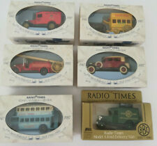 6 x Radio Times Royal Celebration Collection Vintage Diecast Model Cars 1980s