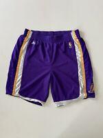 "Adidas Los Angeles Lakers NBA Basketball Shorts Purple Mens Size Large 35"" EUC"