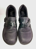 Shoes BOC Born Concept Womens Slip Ons Size 7M 7 Medium Black Leather Uppers
