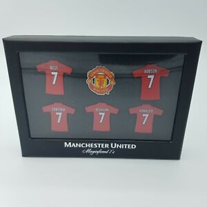 Official Manchester United Football Club Magnificent 7s Pin Badge Set Boxed
