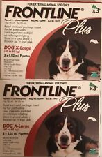 Frontline Plus for Extra Large XL Dogs 89-132lbs (40-60kg) 6 Months 6 Pack, New!