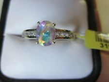 Mercury Mystic Topaz Platinum over Sterling Silver Ring (Size 10) TGW 1.450 cts.